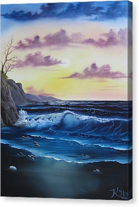 Seascape Sunset Canvas Print by Kevin Hill
