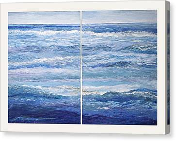 Seashore Diptych Canvas Print by Meg Black