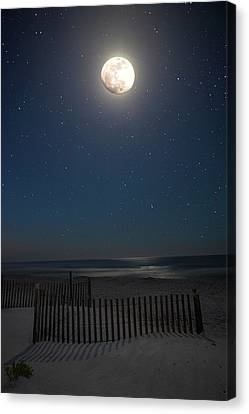 Seaside Moonset Canvas Print