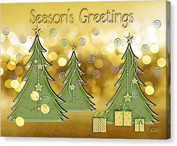 Season's Greetings Canvas Print by Arline Wagner