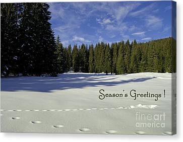 Season's Greetings Austria Europe Canvas Print by Sabine Jacobs