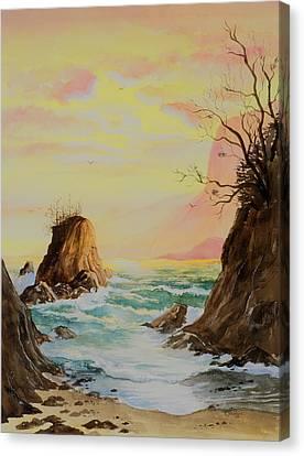 Seastack Sunset Canvas Print