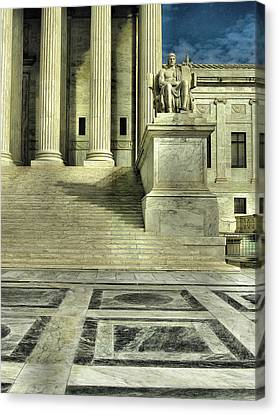 Seated Figure And Columns I Canvas Print