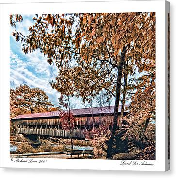 Canvas Print featuring the photograph Seated For Autumn by Richard Bean