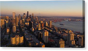Seattle Blue Hour Canvas Print by Heidi Smith