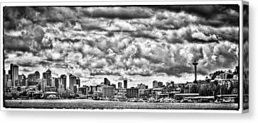 Seattle Cityscape II Canvas Print by David Patterson