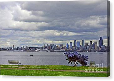Seattle From Alki Beach Canvas Print