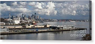 Seattle Pier View Canvas Print