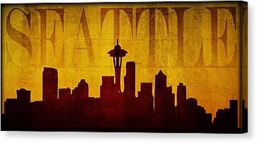 Seattle Canvas Print by Ricky Barnard