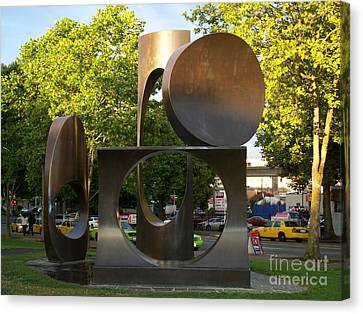 Seattle Sculpture Canvas Print by Chalet Roome-Rigdon