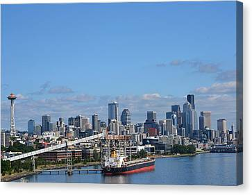 Seattle Skyline 1 Canvas Print