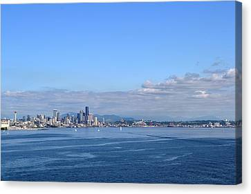 Seattle Skyline 4 Canvas Print