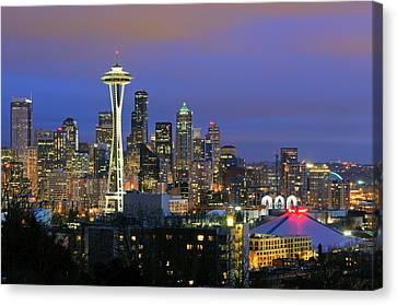 Seattle Skyline Canvas Print by Tom Schwabel
