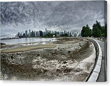 Canvas Print featuring the photograph Seawall To Vancouver by Scott Holmes