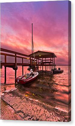 Sebring Sailing Canvas Print by Debra and Dave Vanderlaan