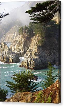 Secluded Big Sur Cove 1 Canvas Print by Jeff Lowe