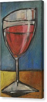 Second Glass Of Red Canvas Print