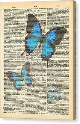Ephemera Canvas Print - Secret Butterfly 1 by Marcus  Jules