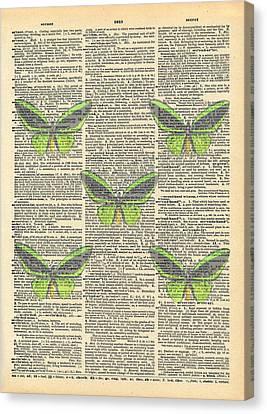 Ephemera Canvas Print - Secret Butterfly 2 by Marcus  Jules