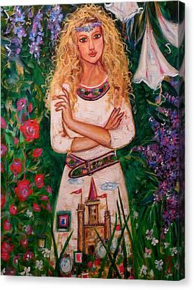 Secret Castle Garden Canvas Print by Kimberly Van Rossum