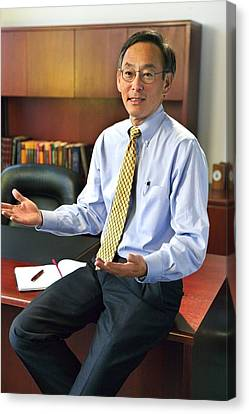 Secretary Of Energy Steven Chu B. 1948 Canvas Print by Everett