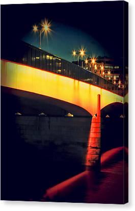 Lurk Canvas Print - Secrets Of London Bridge by Jasna Buncic