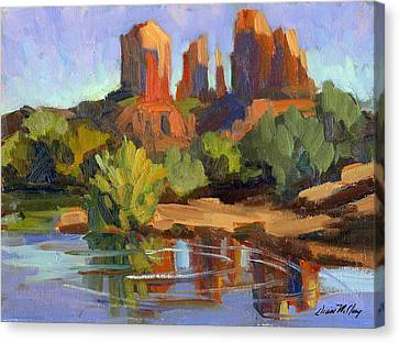 Sedona Cathedral Rock Canvas Print by Diane McClary