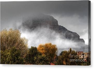 Canvas Print featuring the photograph Sedona Fog by Tam Ryan