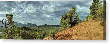 Sedona From The Top Of Jordan Trail Canvas Print by Dan Turner