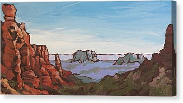 Sedona Vista Canvas Print by Sandy Tracey