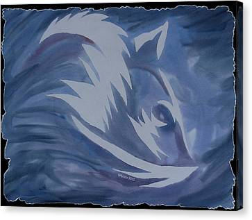 Seduction In Blue Canvas Print by Mark Schutter