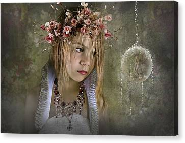 Flower Pink Fairy Child Canvas Print - Seeing Fairies by Ethiriel  Photography