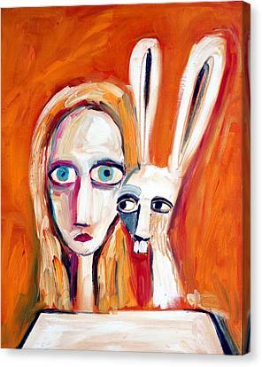 Mad Hatter Canvas Print - Seeking by Leanne Wilkes