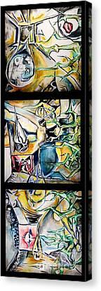 Seeped In Oil Canvas Print by Carol Rashawnna Williams