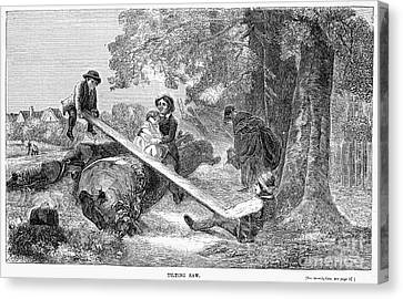 Seesaw, 1855 Canvas Print by Granger