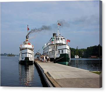 Seguin And Winona At Gravenhurst Canvas Print
