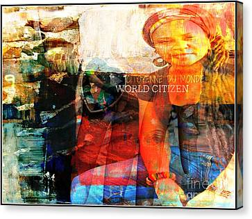 Self - Between The World And Me Canvas Print by Fania Simon