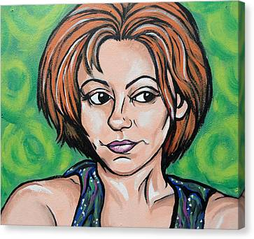 Canvas Print featuring the painting Self 2011 by Sarah Crumpler