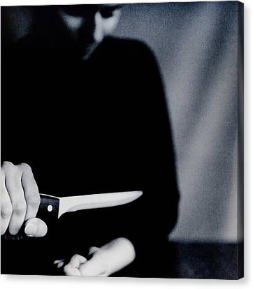 Psychiatric Canvas Print - Self Harm by Cristina Pedrazzini