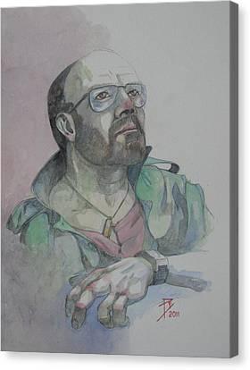 Self-portrait 2005 Canvas Print by Ray Agius