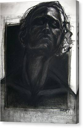 Canvas Print featuring the drawing Self Portrait 2008 by Gabrielle Wilson-Sealy