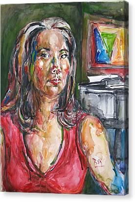 Self Portrait 8 Canvas Print by Becky Kim