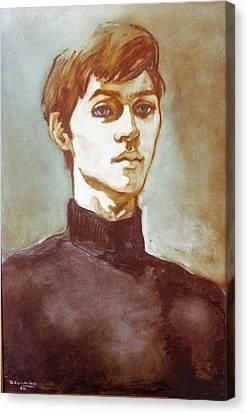 Self Portrait Blue Canvas Print