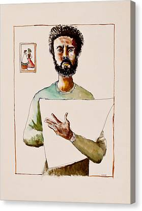 Self Portrait Canvas Print by Clarence Major