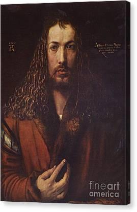 Self Portrait  Durer Canvas Print by Pg Reproductions