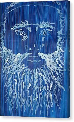 Self Portrait In Blue Canvas Print