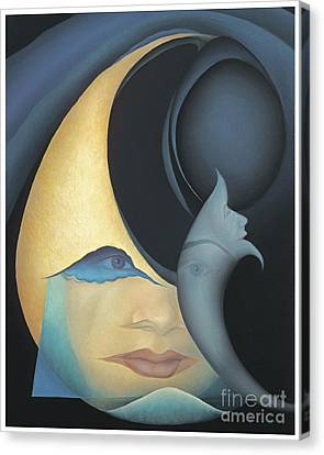 Self Portrait Canvas Print by Joanna Pregon