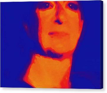 Self Portrait On Fire For The Future Canvas Print by Carolina Liechtenstein