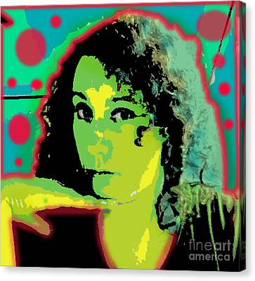 Self Portrait Pop Art Canvas Print by Christine Perry