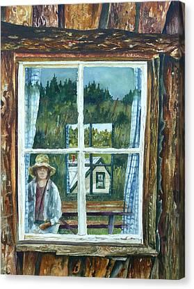 Self Portrait Walker Ranch Canvas Print by Anne Gifford